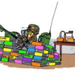 Le Fonctionnaire de Sécurité de Défense du CNRS comme il se dépeint lui-même dans ses interventions en interne. (source: CNRS-Avec l'autorisation de l'auteur William)