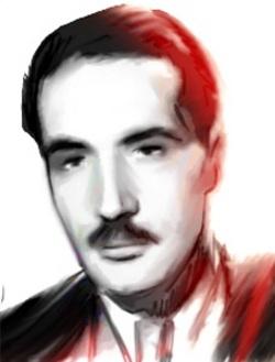 Le résistant Morland alias François Mitterrand. (Portrait de Gabriel pour L'Agence Idea)