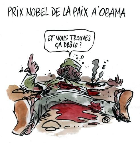 Prix Nobel de la paix à Obama