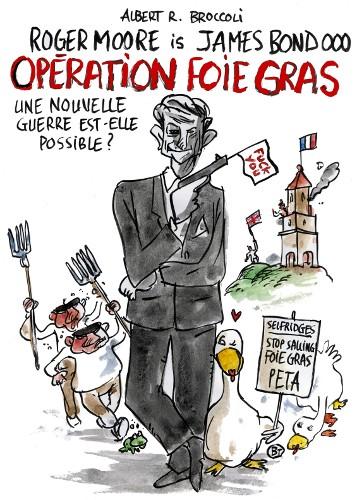James Bond contre le foie gras !