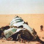 L'attentat du DC 10 d'Uta au-dessus du désert du Ténéré par les services secrets lybiens, en septembre 1989. (Source: lefigaro.fr)