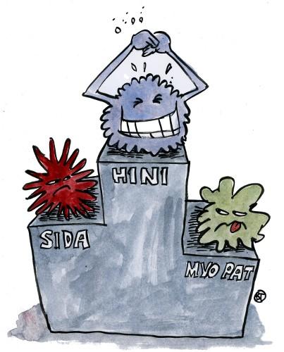 H1N1 un million de nouveaux cas en une semaine !