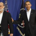 Ben Bernanke, chairman de la FED, et Barack Obama, président des Etats-Unis.