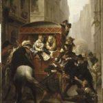 Le 14 mai 1610, rue de la Ferronnerie, Henri IV est poignardé à mort dans son carrosse par François Ravaillac. Durant deux heures, le pouvoir cherche à dissimuler sa mort, avant de se lancer dans une grande opération de communication politique dans tout le pays.