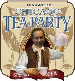 Rick Santelli, journaliste financier de CNBC, a été à l'origine de la proposition d'une tea party à Chicago pour protester contre la dilapidation de l'argent des impôts.
