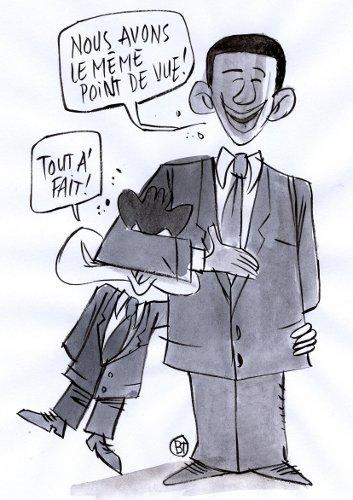 Laurel sarkozy et Hardy Obama