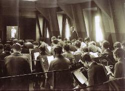Cours de dessin au lycée Rollin, avant-guerre