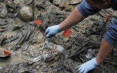 L'un des charniers retrouvés du massacre de Srebrenica.