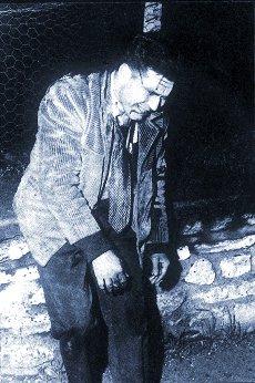 Manifestant algérien au soir du 17 octobre 1961.