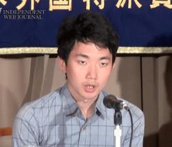 Conférence de presse lors de son dernier passage au Japon en octobre 2014.