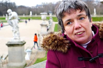 Annick Deshays, autiste asperger et atteinte du syndrôme de Rett, est l'auteur de « Je suis autiste et je pense le monde » (Lemieux Éditeur). ©Claude Germerie pour Panorama des idées.