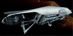 Le Sewol gisant à 44 mètres de profondeur.