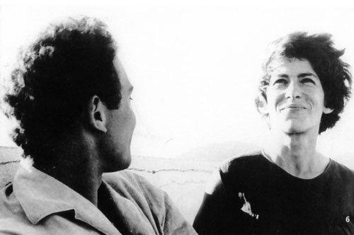 Marceline sur le tournage de Chronique d'un été, de Jean Rouch et Edgar Morin (1961)