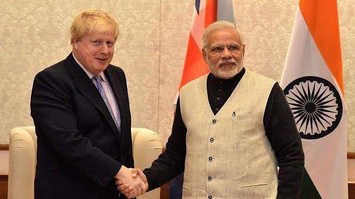 Boris Johnson et Modi, congratulations.